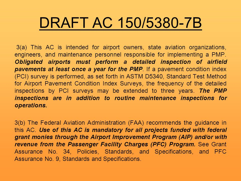 DRAFT AC 150/5380-7B