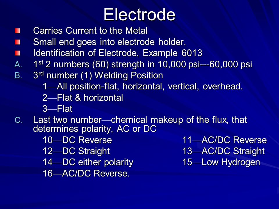 Electrode Carries Current to the Metal