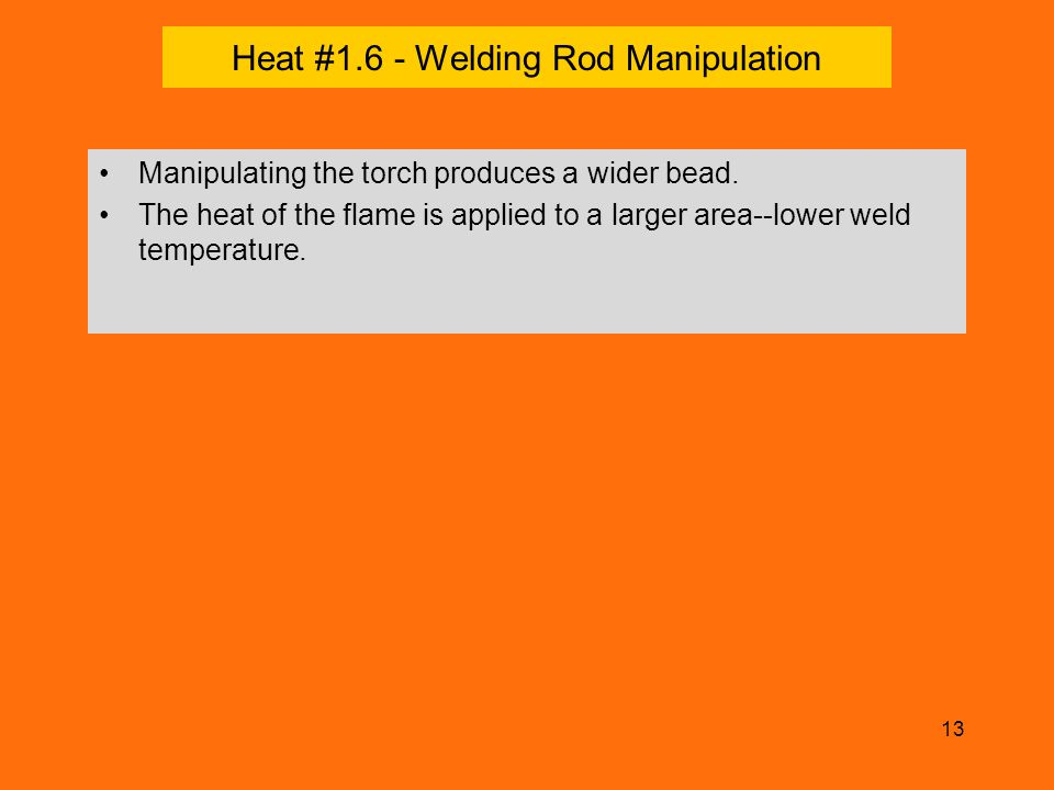 Heat #1.6 - Welding Rod Manipulation