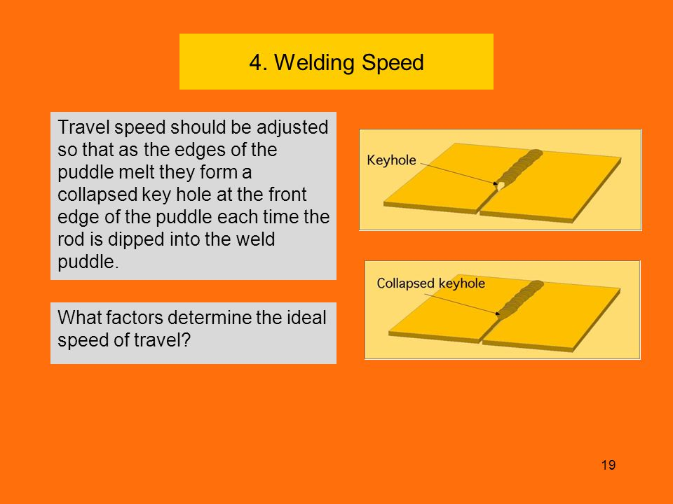 4. Welding Speed