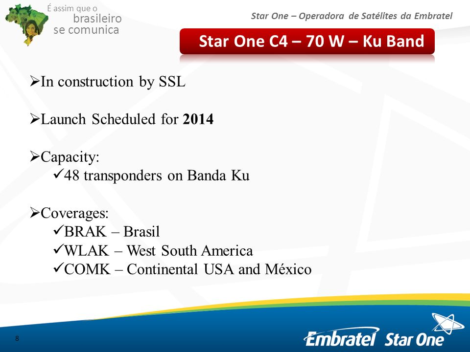Star One C4 – 70 W – Ku Band In construction by SSL