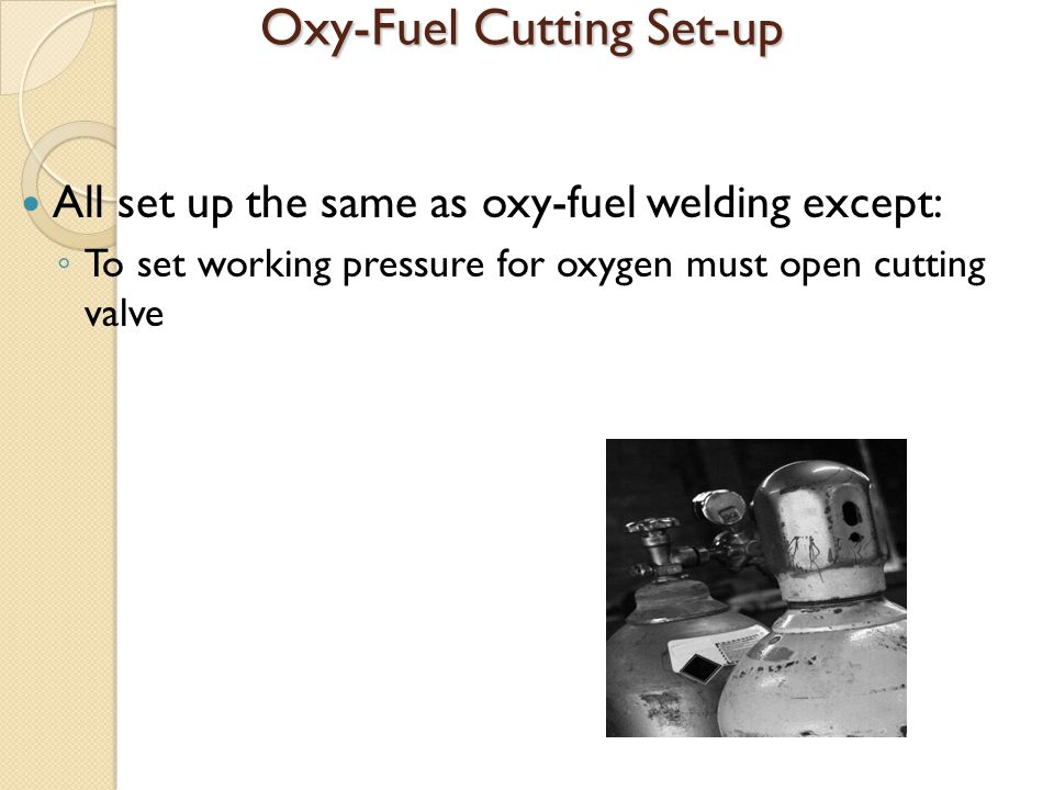 Oxy-Fuel Cutting Set-up