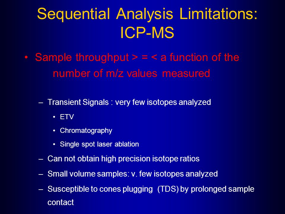 Sequential Analysis Limitations: ICP-MS