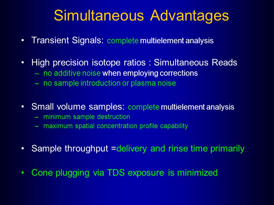 Simultaneous Advantages