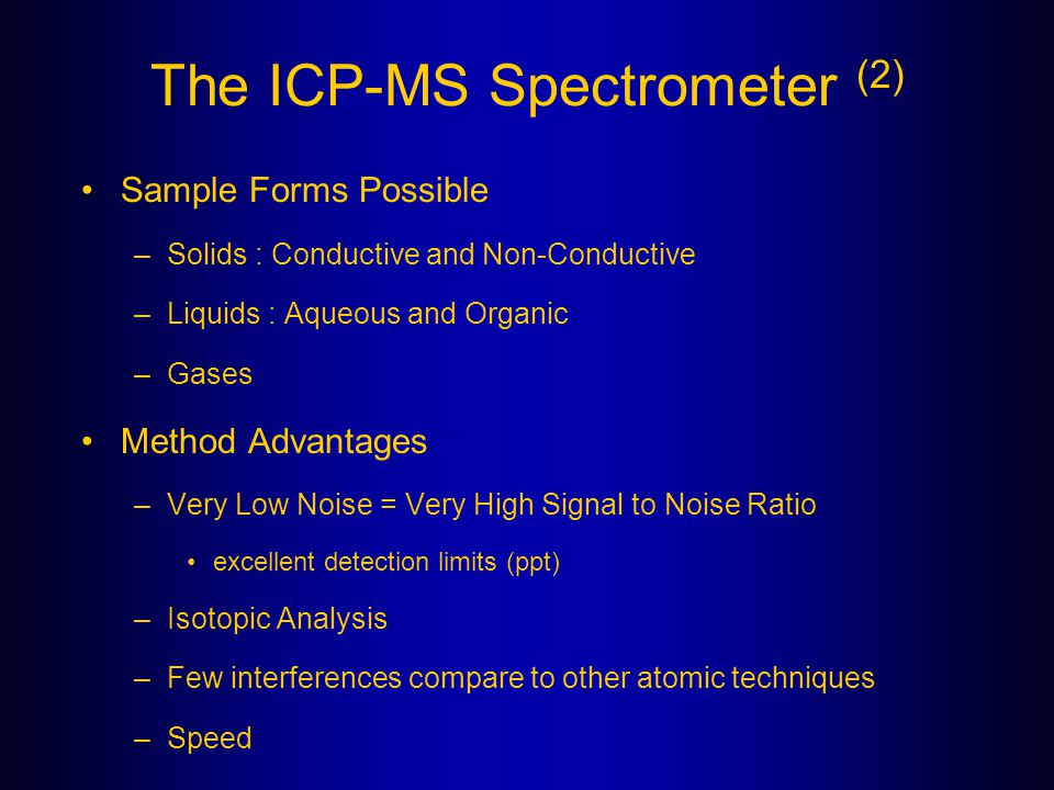 The ICP-MS Spectrometer (2)