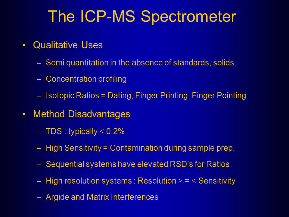 The ICP-MS Spectrometer