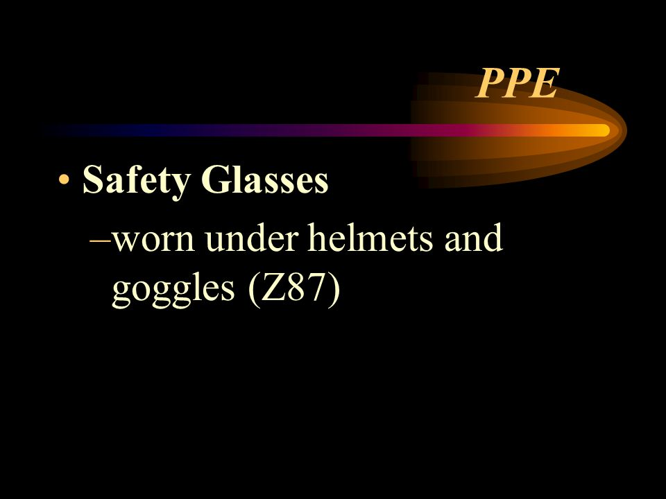 PPE Safety Glasses worn under helmets and goggles (Z87)