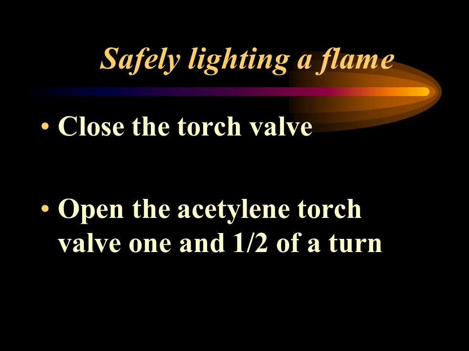 Safely lighting a flame