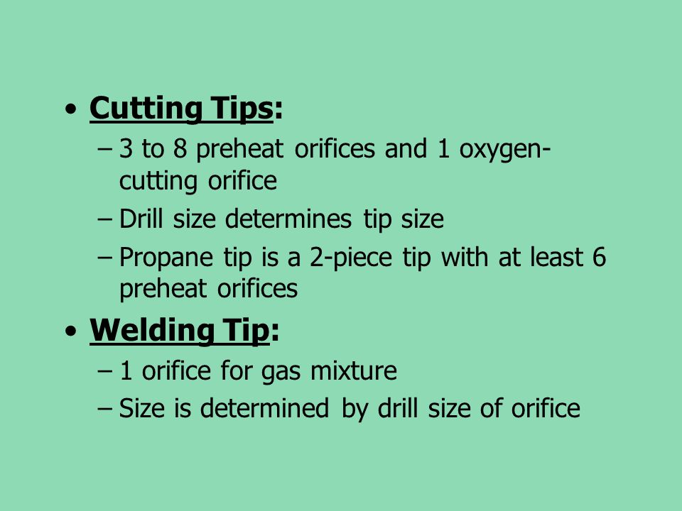 Cutting Tips: Welding Tip: