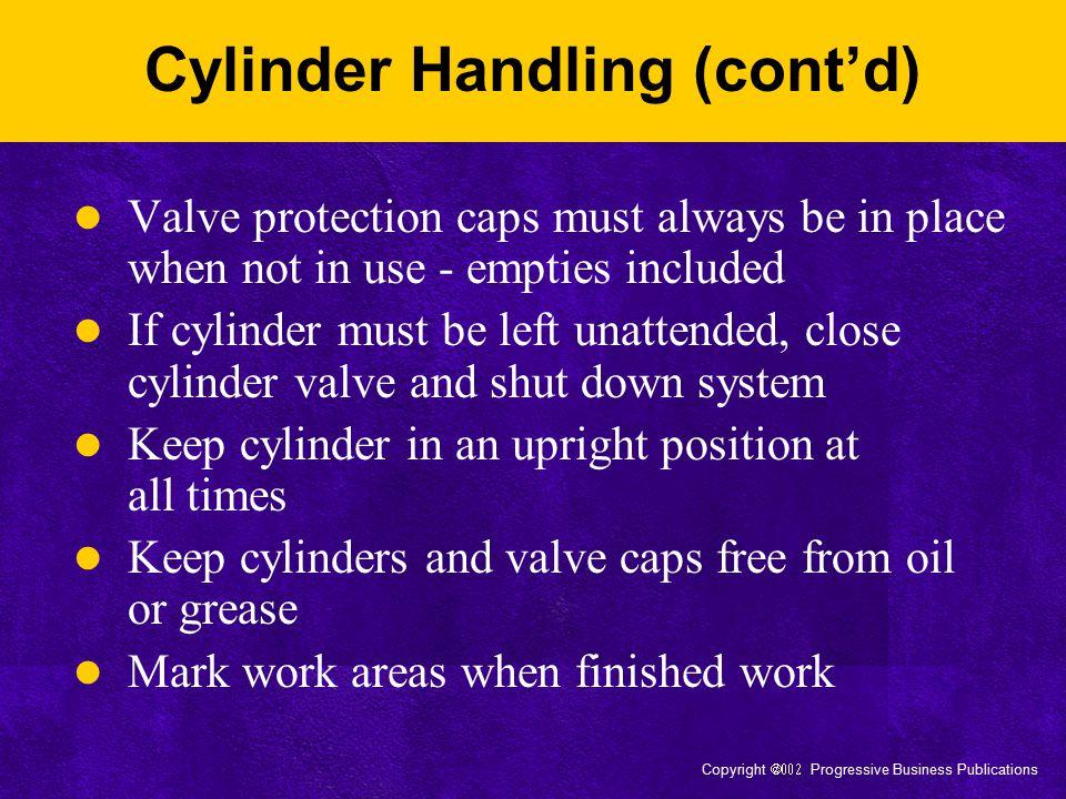 Cylinder Handling (cont'd)