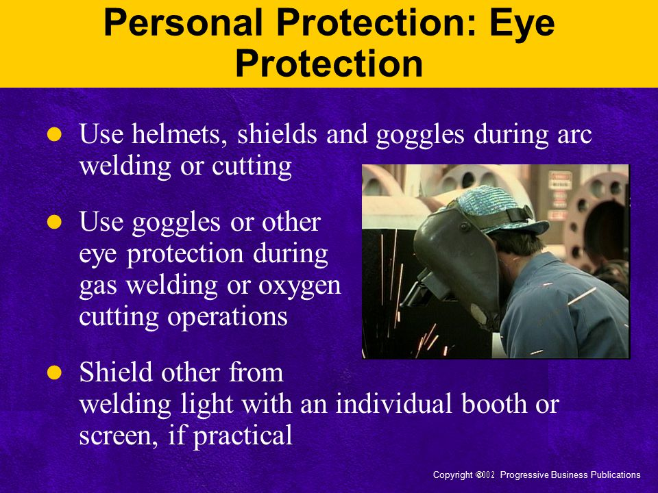Personal Protection: Eye Protection