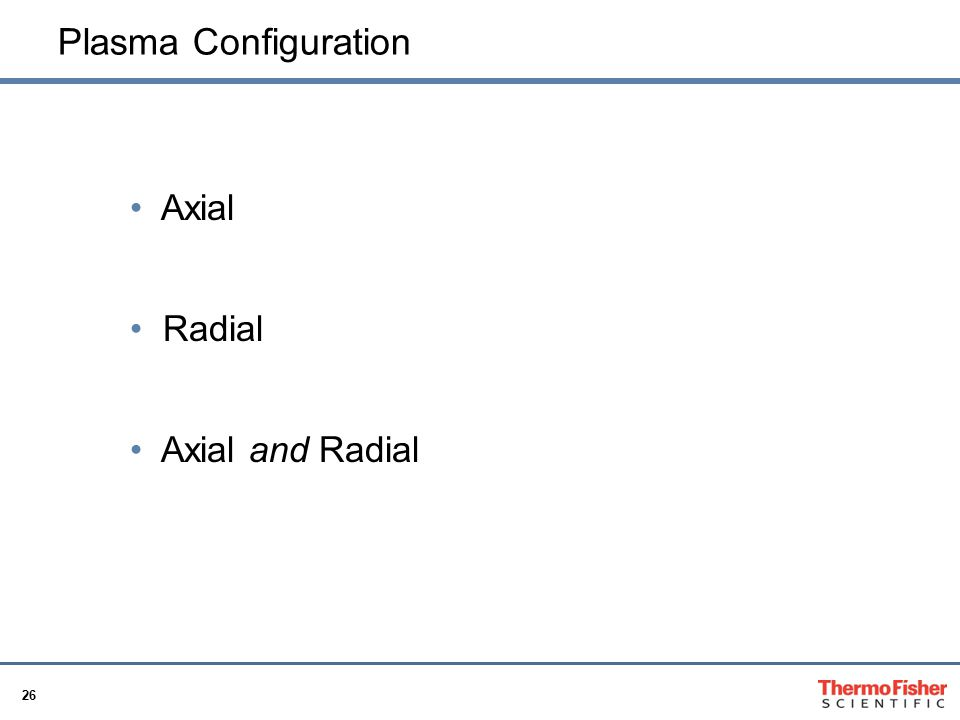 Plasma Configuration Axial Radial Axial and Radial