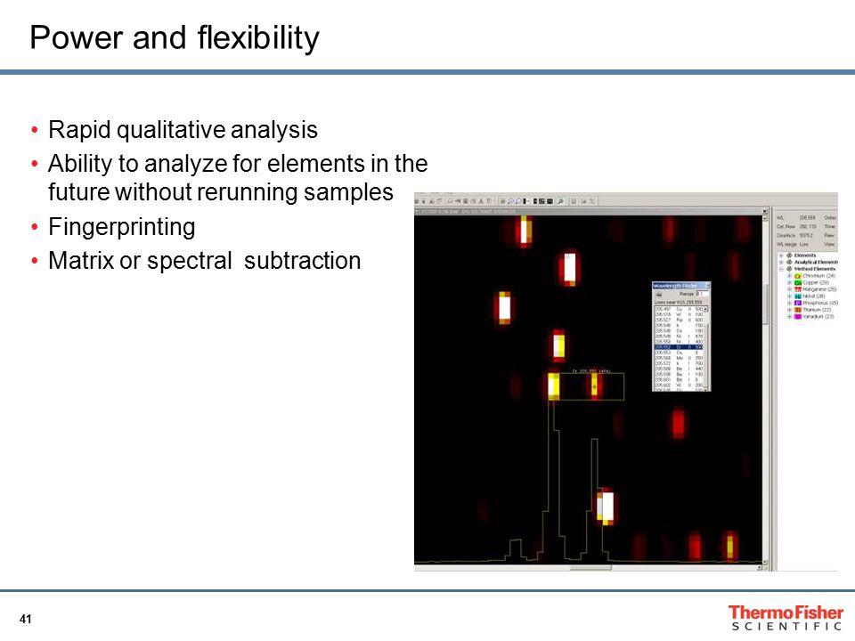 Power and flexibility Rapid qualitative analysis