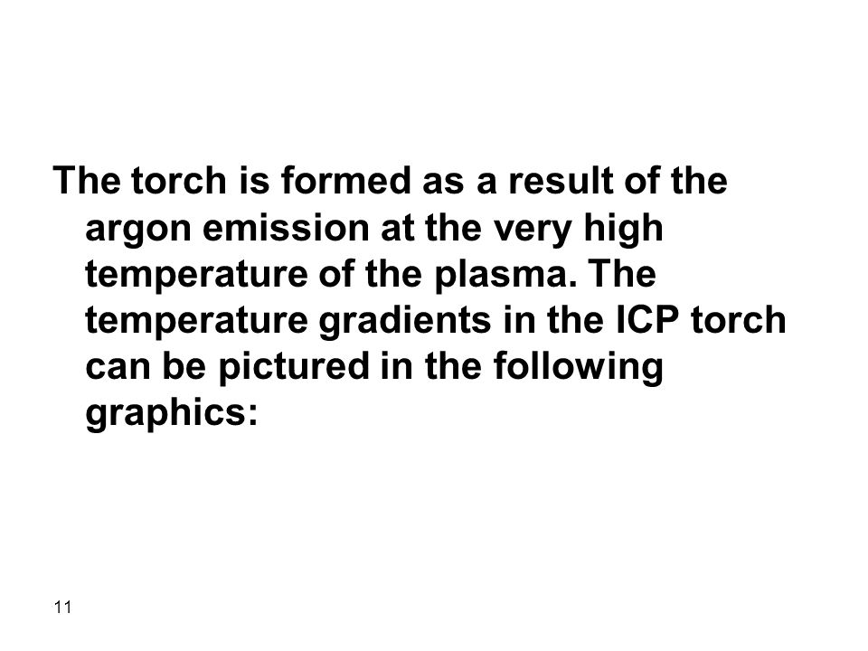 The torch is formed as a result of the argon emission at the very high temperature of the plasma.