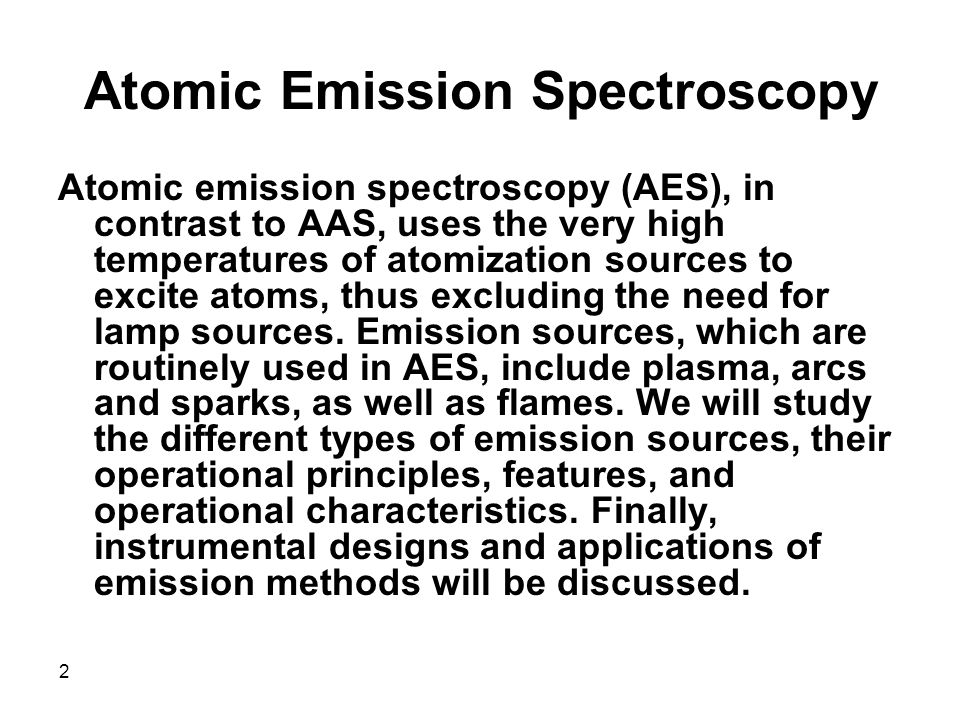 Atomic Emission Spectroscopy