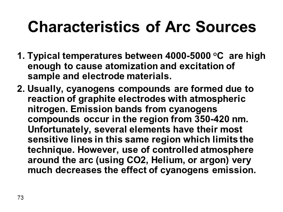 Characteristics of Arc Sources