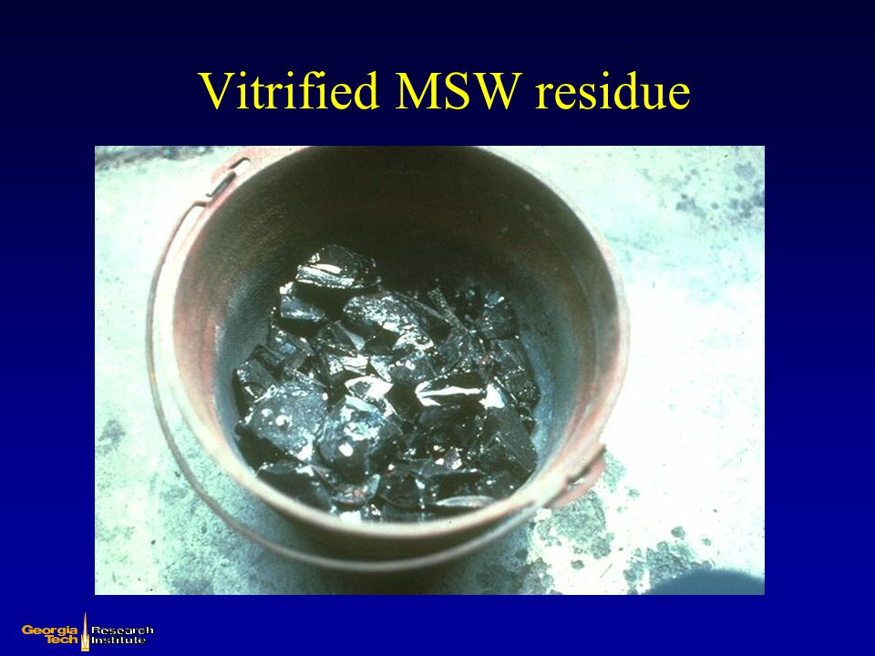 Vitrified MSW residue