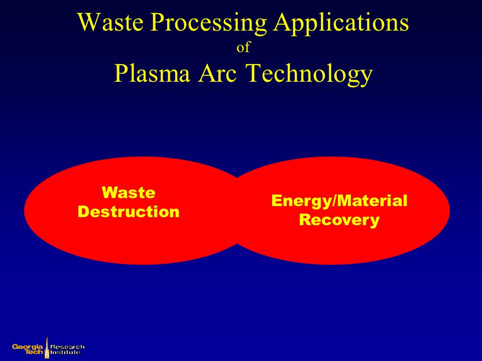 Waste Processing Applications of Plasma Arc Technology