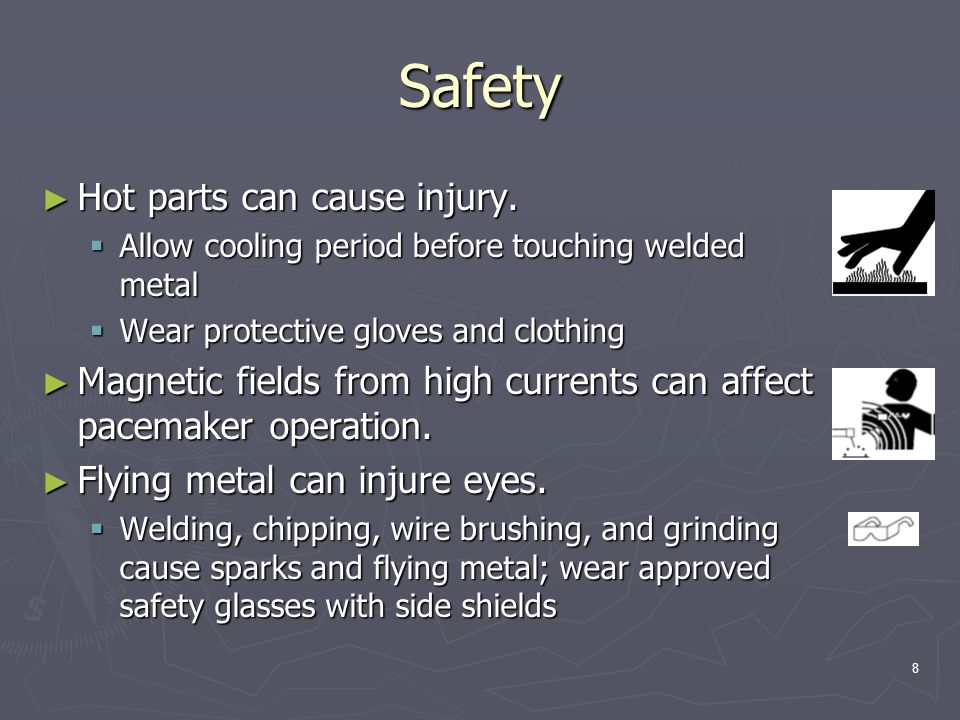 Safety Hot parts can cause injury.