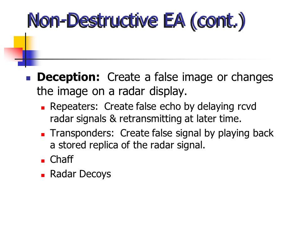 Non-Destructive EA (cont.)