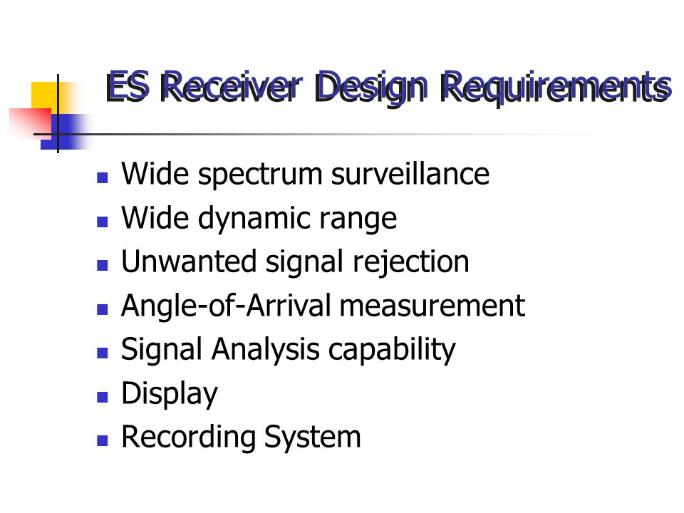 ES Receiver Design Requirements