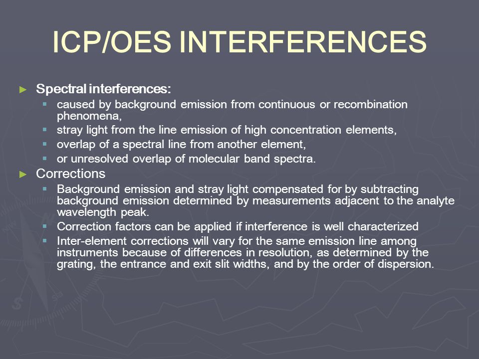 ICP/OES INTERFERENCES