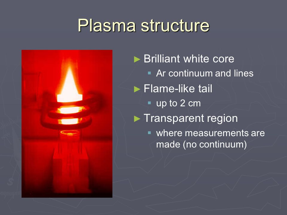 Plasma structure Brilliant white core Flame-like tail