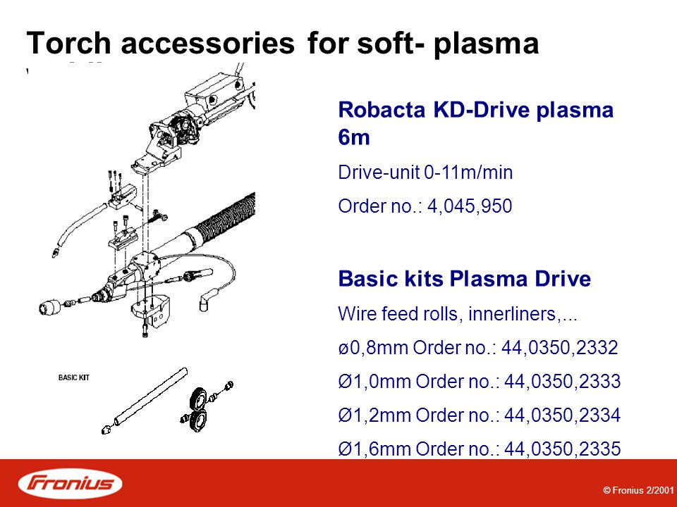 Torch accessories for soft- plasma welding