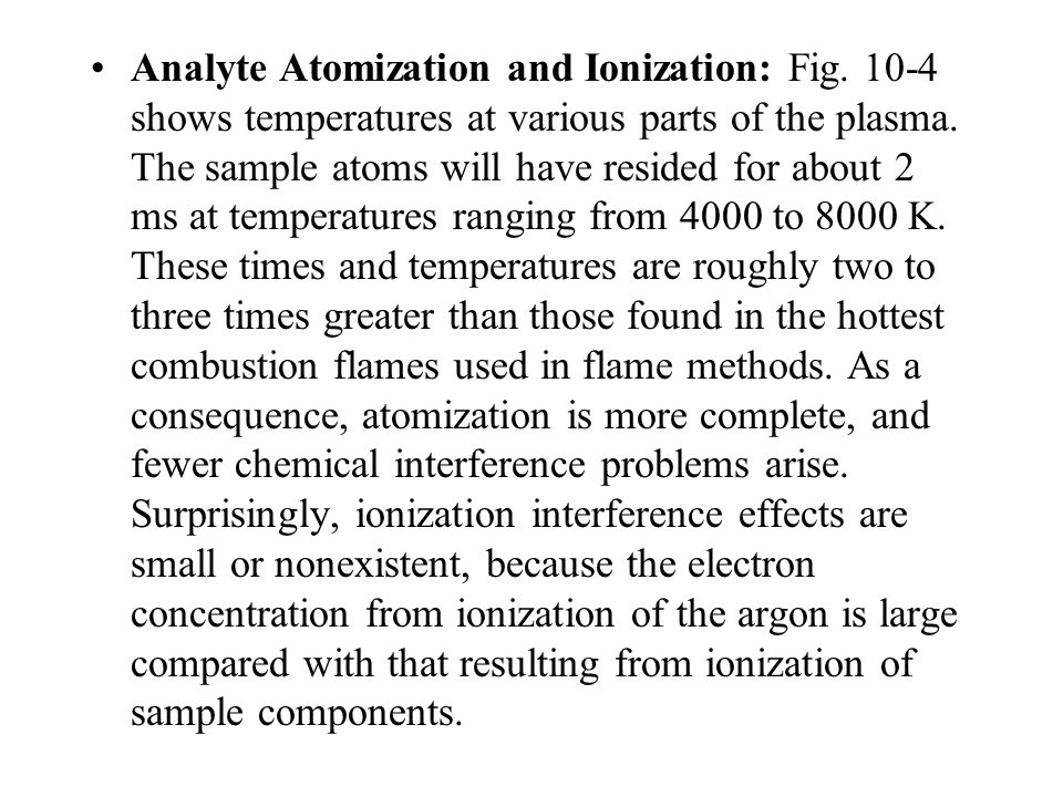 Analyte Atomization and Ionization: Fig