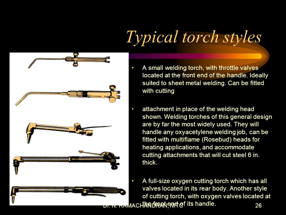 Typical torch styles