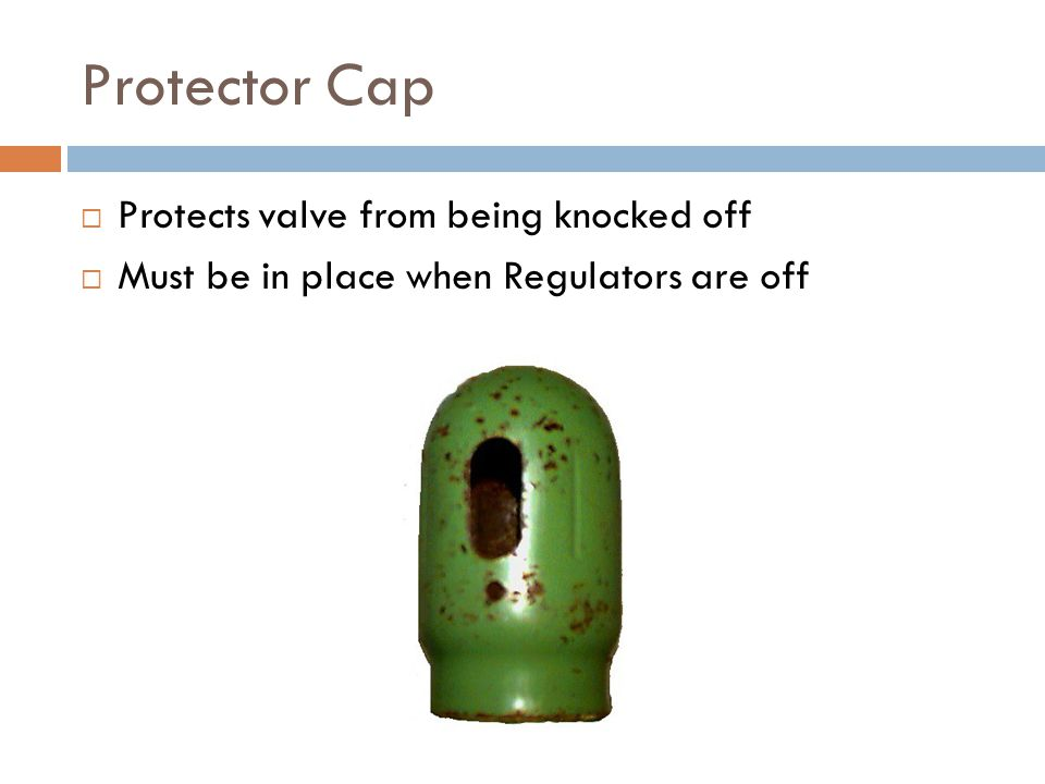 Protector Cap Protects valve from being knocked off