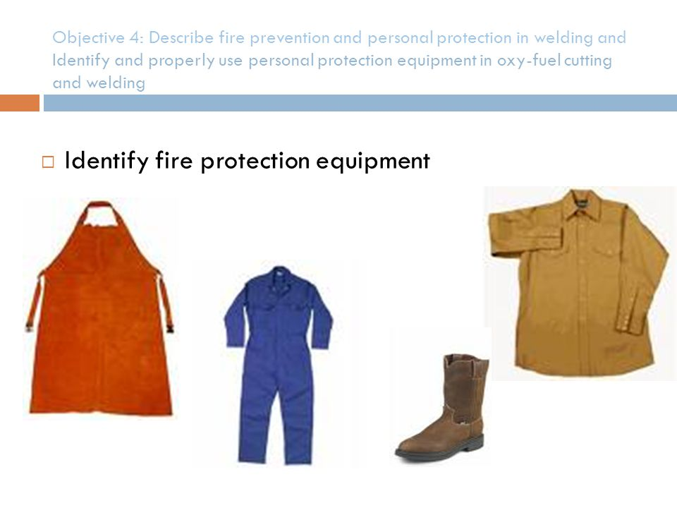 Identify fire protection equipment