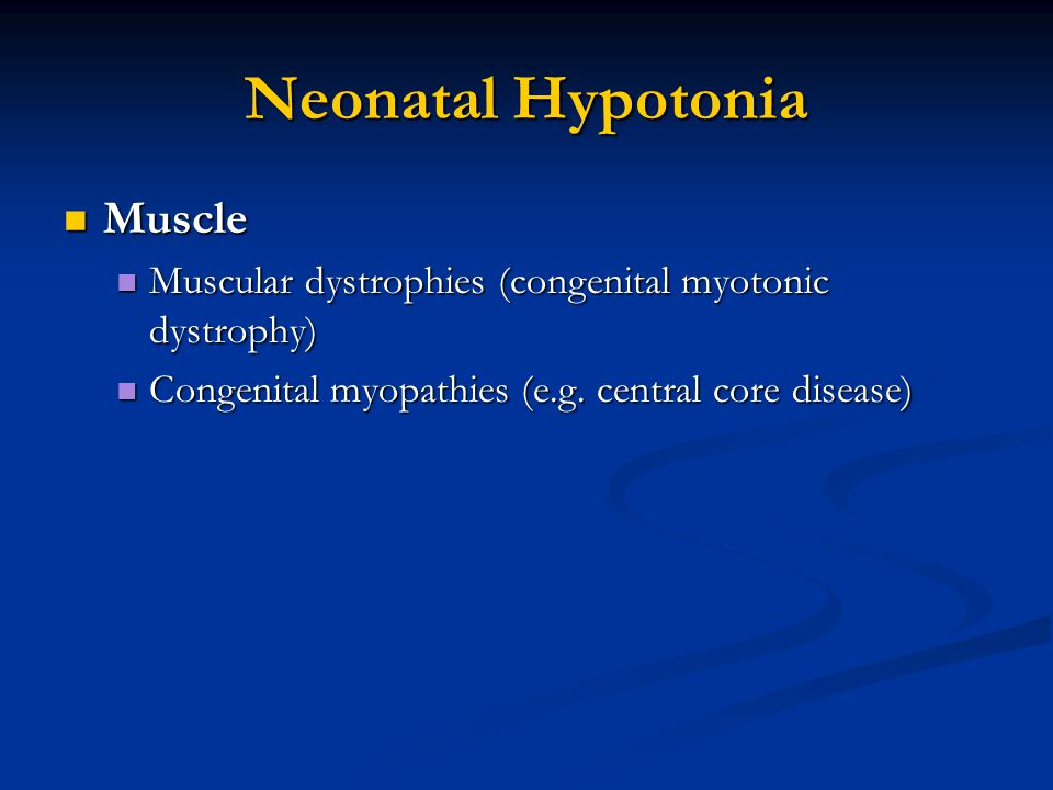 Neonatal Hypotonia Muscle