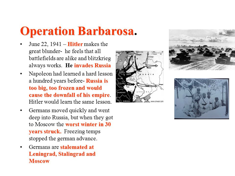 Operation Barbarosa.