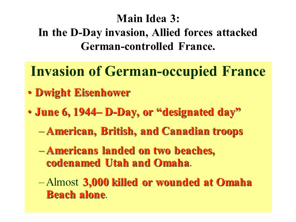 Invasion of German-occupied France