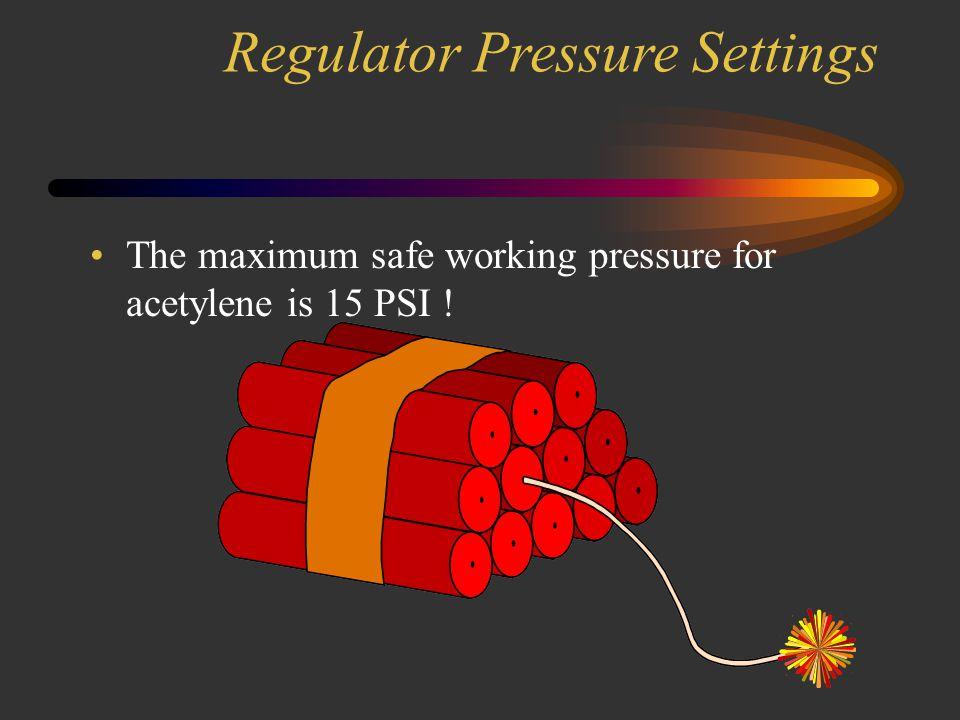 Regulator Pressure Settings