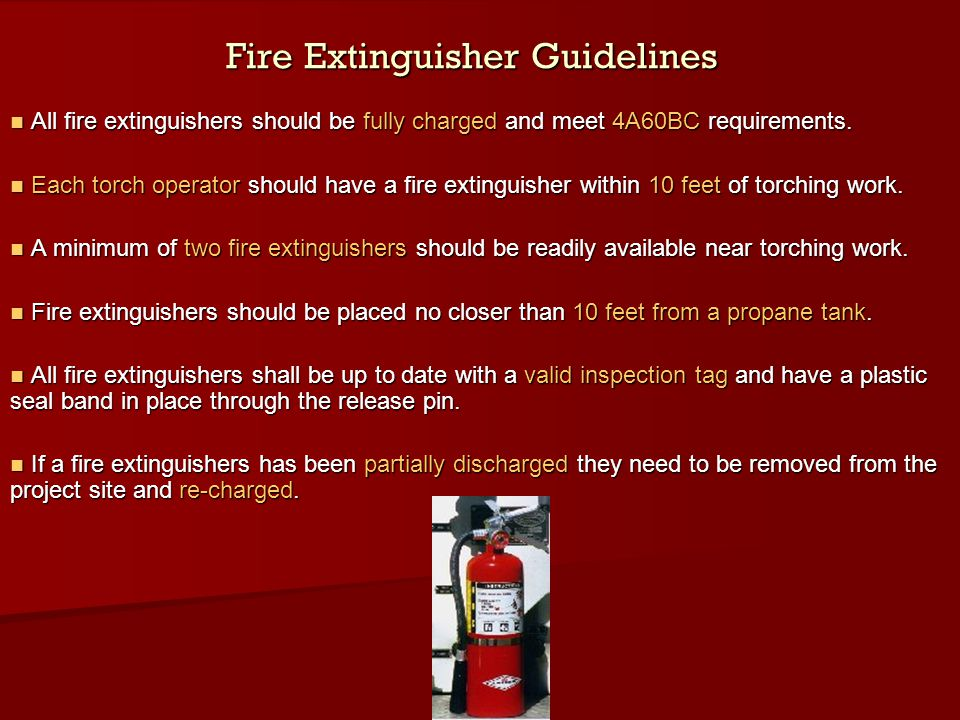Fire Extinguisher Guidelines