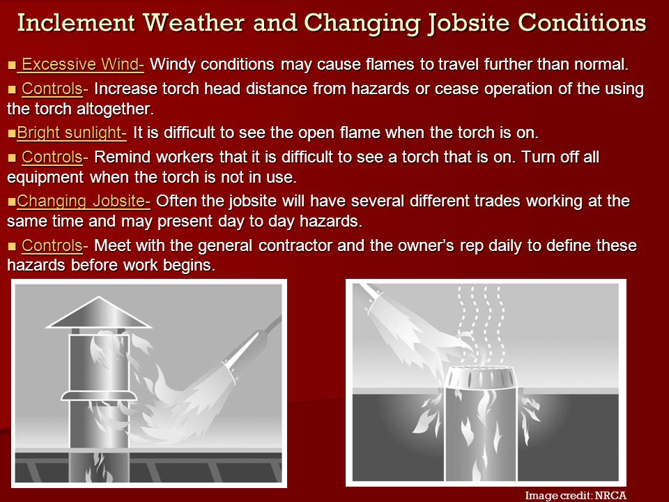 Inclement Weather and Changing Jobsite Conditions