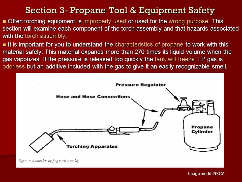 Section 3- Propane Tool & Equipment Safety