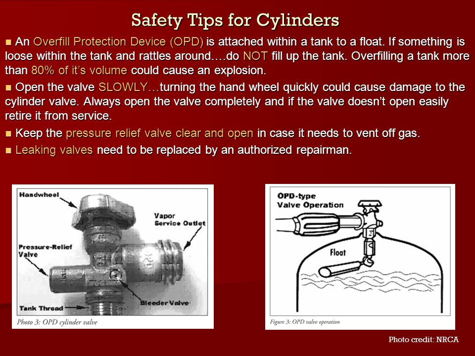 Safety Tips for Cylinders