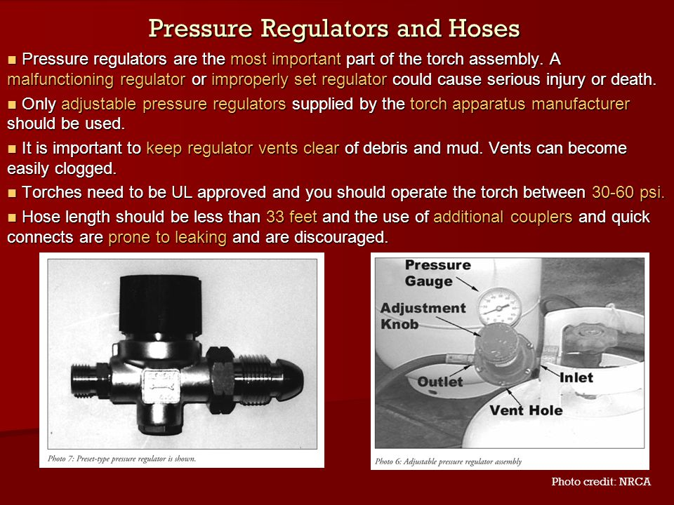 Pressure Regulators and Hoses