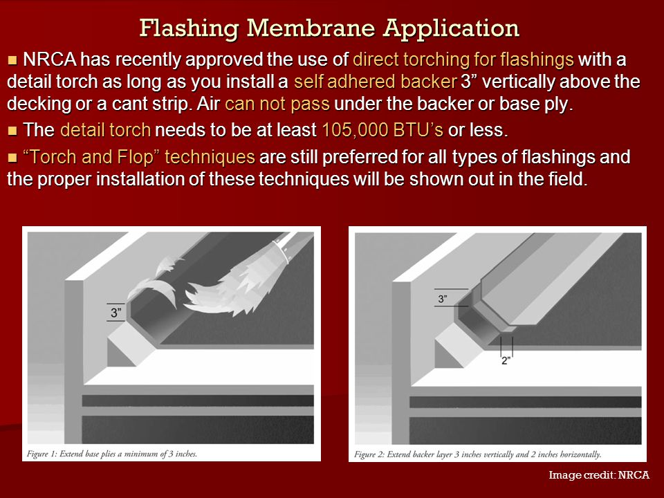 Flashing Membrane Application
