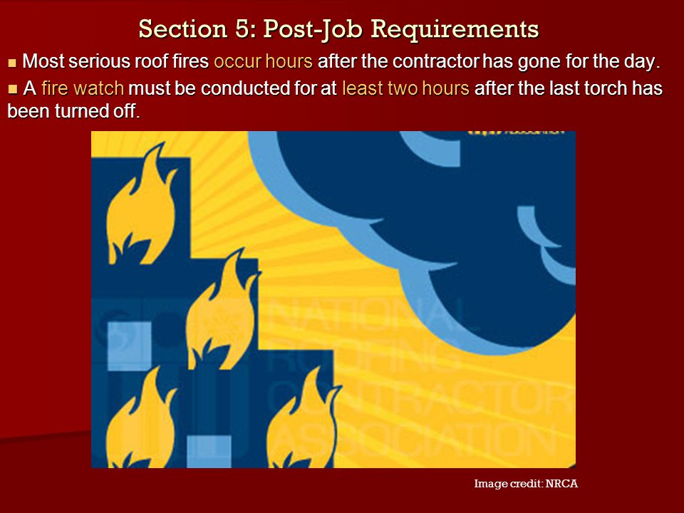 Section 5: Post-Job Requirements