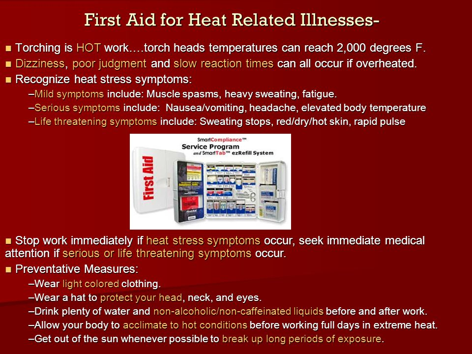 First Aid for Heat Related Illnesses-