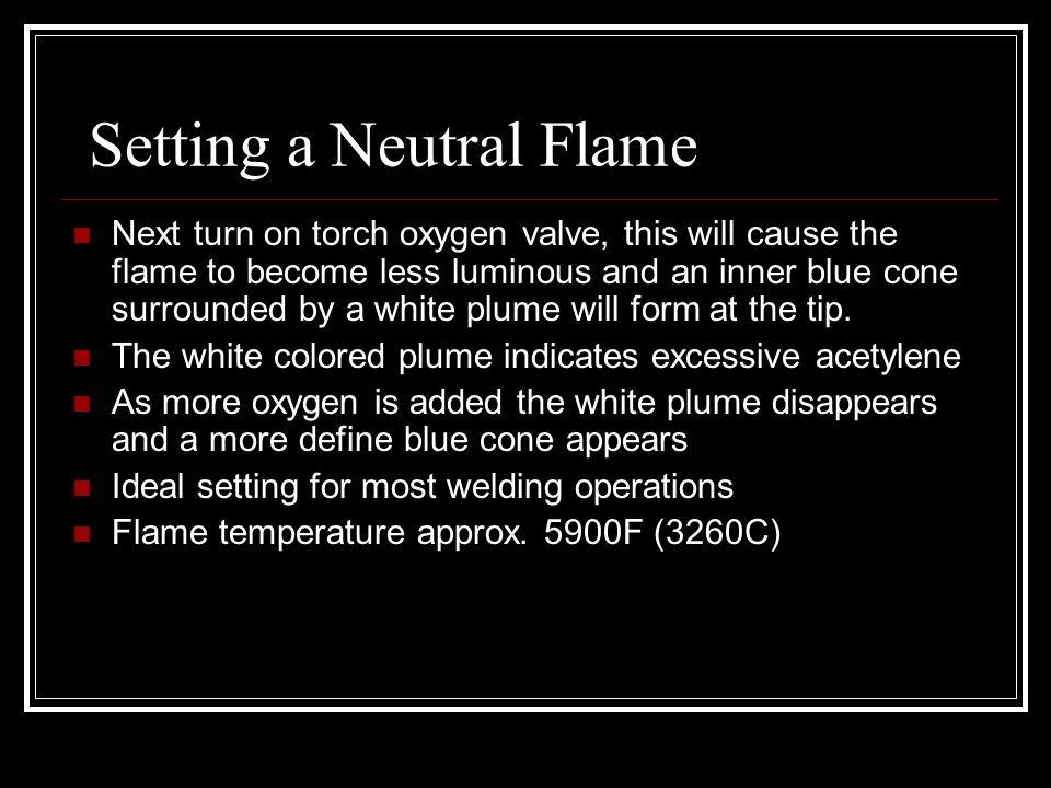 Setting a Neutral Flame