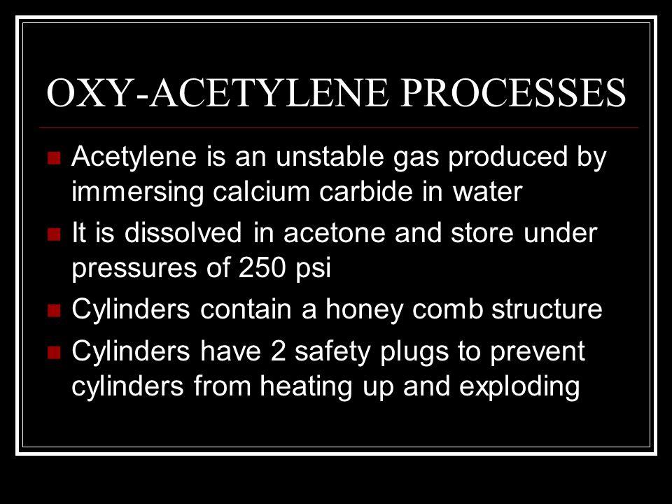 OXY-ACETYLENE PROCESSES