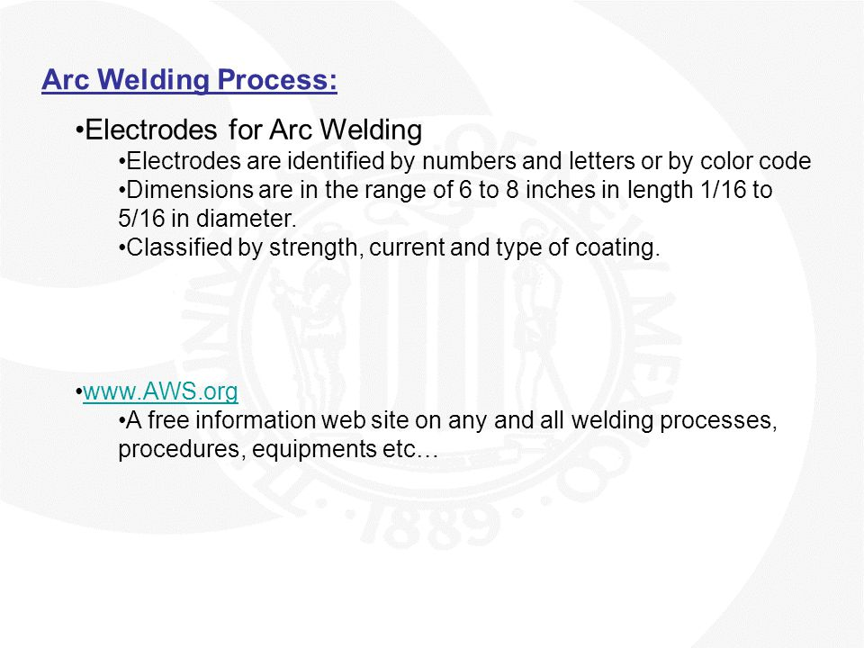 Electrodes for Arc Welding