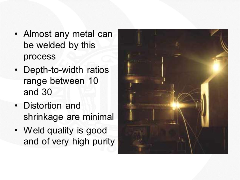 Almost any metal can be welded by this process