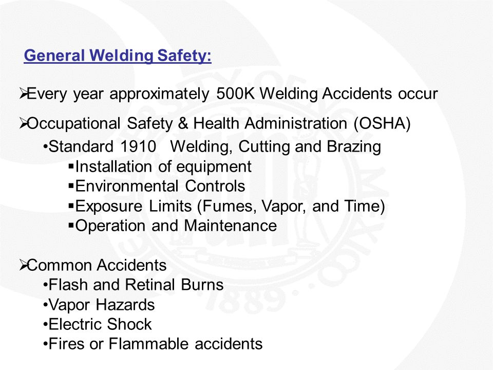 General Welding Safety: