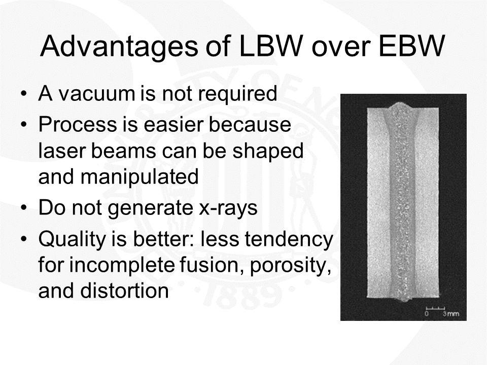 Advantages of LBW over EBW